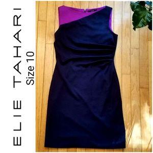 TAHARI  black and purple dress sz 10